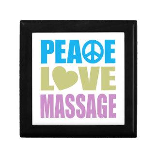 Peace Love Massage Small Square Gift Box
