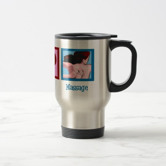 Peace Love Massage Travel Mug