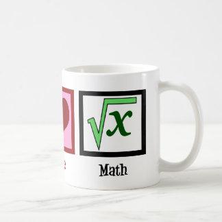 Peace Love Math Basic White Mug