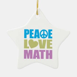 Peace Love Math Ceramic Star Decoration
