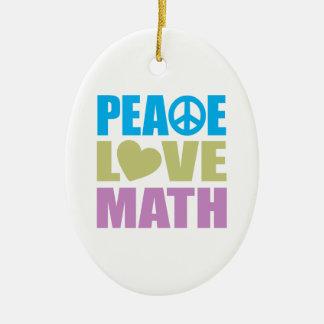 Peace Love Math Christmas Ornament