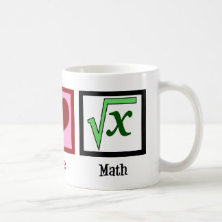 Peace Love Math Coffee Mug