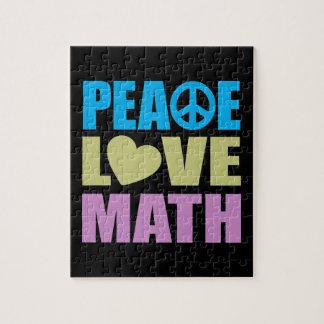 Peace Love Math Jigsaw Puzzle