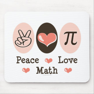 Peace Love Math Mousepad