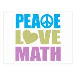 Peace Love Math Post Card
