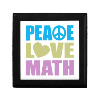 Peace Love Math Small Square Gift Box