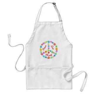 Peace Love Math Standard Apron