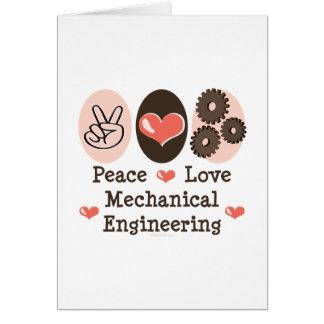 Peace Love Mechanical Engineering Greeting Card