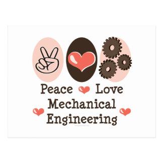 Peace Love Mechanical Engineering Postcard