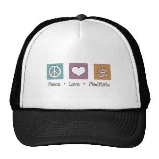 Peace Love Meditate Cap