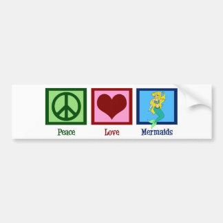 Peace Love Mermaids Bumper Sticker