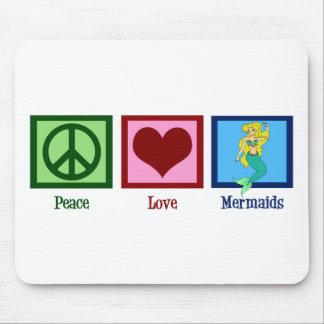 Peace Love Mermaids Mouse Mat