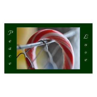 Peace, Love Merry Christmas Tag Pack Of Standard Business Cards