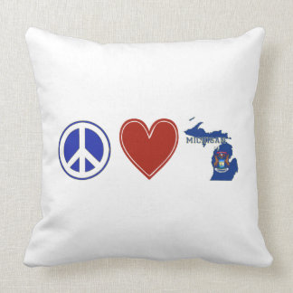 Peace Love Michigan Cushion