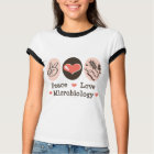 Peace Love Microbiology Ringer Tee