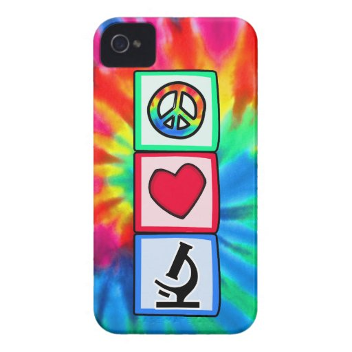 Peace, Love, Microscopes iPhone 4 Covers