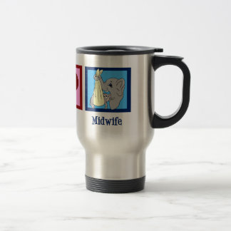 Peace Love Midwife Travel Mug
