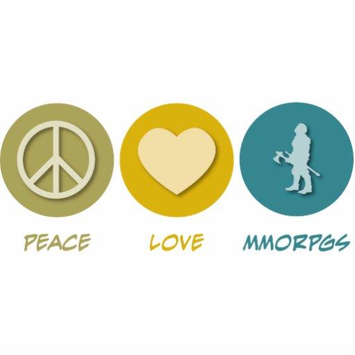 Peace Love MMORPGs Photo Sculpture