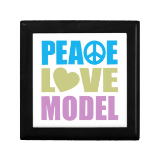Peace Love Model Small Square Gift Box