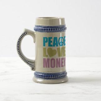 Peace Love Money Beer Steins