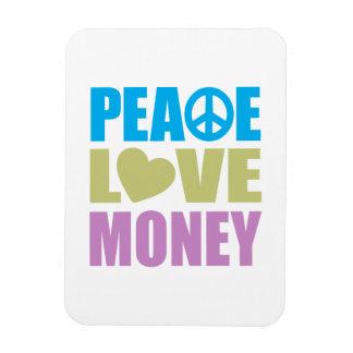 Peace Love Money Flexible Magnets
