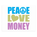 Peace Love Money Postcard