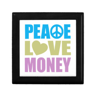 Peace Love Money Small Square Gift Box