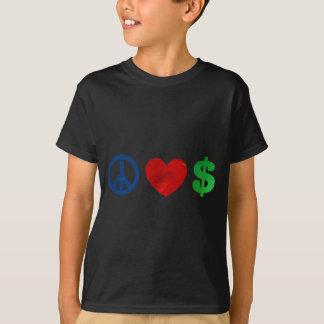 Peace love money T-Shirt