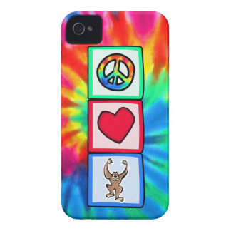 Peace, Love, Monkeys iPhone 4 Case-Mate Case
