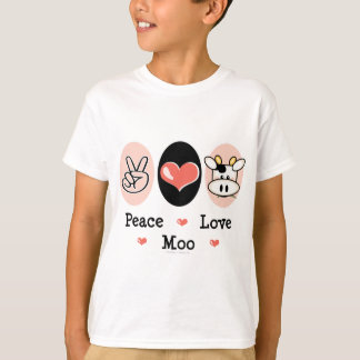 Peace Love Moo Cow Kids T-shirt