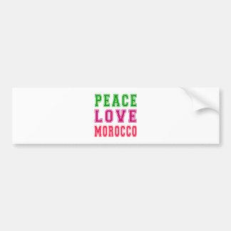 Peace Love Morocco Bumper Stickers