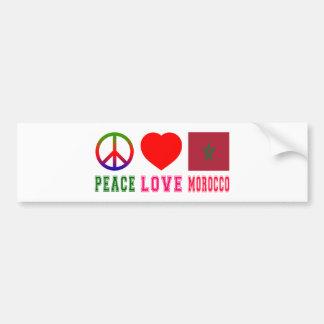 Peace Love Morocco Car Bumper Sticker
