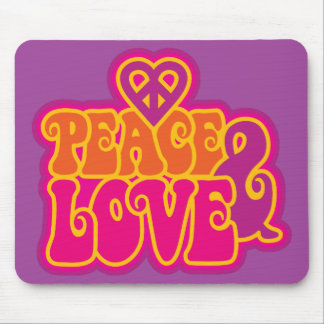 Peace & Love Mouse Mat