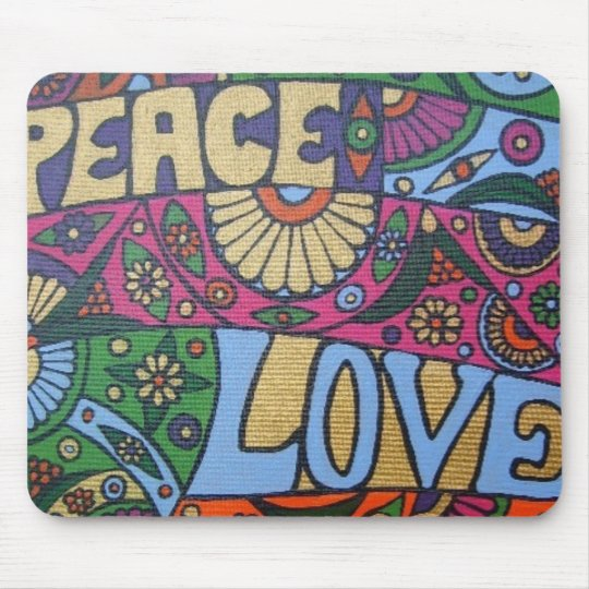 Peace & Love Mouse Pad