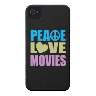 Peace Love Movies iPhone 4 Case-Mate Case