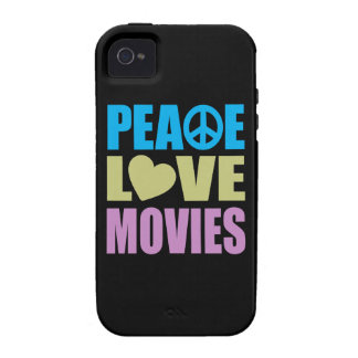 Peace Love Movies iPhone 4/4S Cases