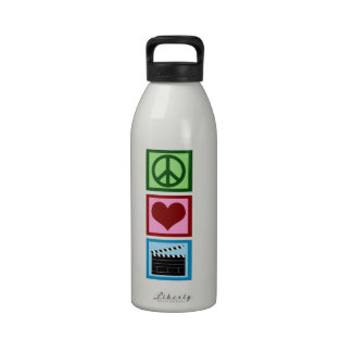 Peace Love Movies Drinking Bottles