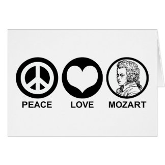 Peace Love Mozart Greeting Card