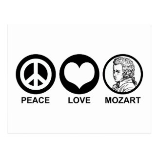 Peace Love Mozart Postcard
