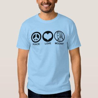 Peace Love Mozart Tshirts