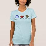 Peace Love & Muddy Dane Paws Shirt