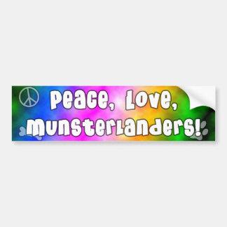 Peace Love Munsterlanders Bumper Sticker