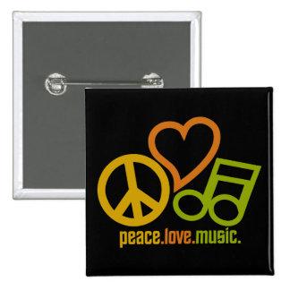 Peace Love Music button