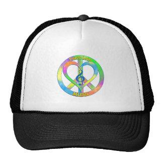 Peace Love Music Cap