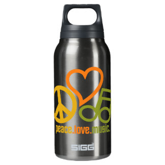 Peace-Love-Music - choose color Insulated Water Bottle
