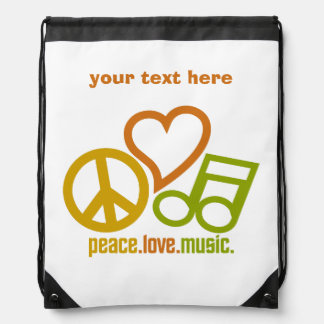 Peace-Love-Music custom bag