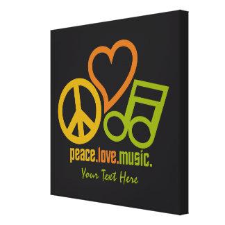Peace Love Music custom canvas print