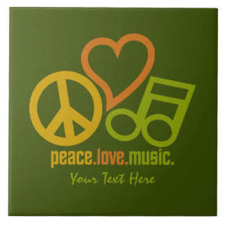 Peace Love Music custom ceramic tiles