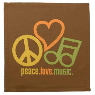 Peace-Love-Music custom cloth napkins