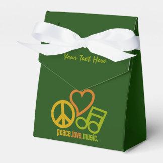 Peace Love Music custom favor box